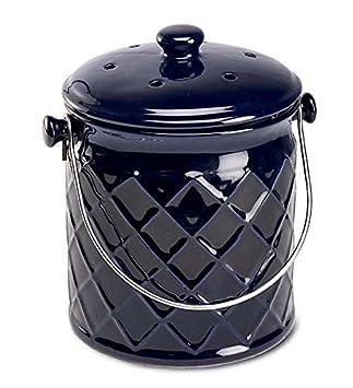 1-Gallon Lattice Ceramic Compost Crock, in Black Plow & Hearth®