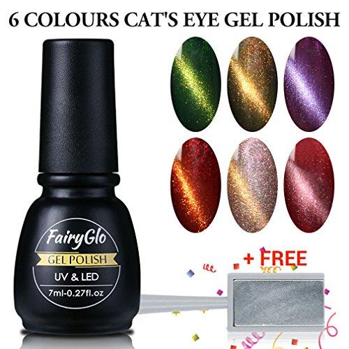 FairyGlo Nail Polish 3D Cat's Eye Nail Art