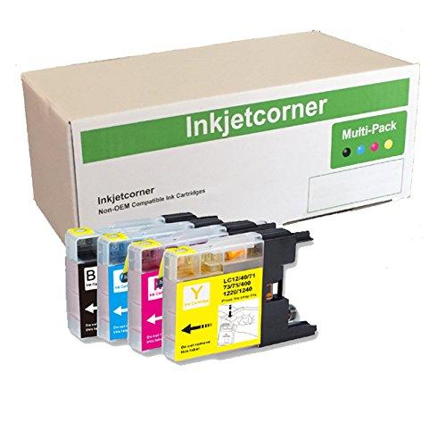 Inkjetcorner 10互換インクカートリッジコンボ交換lc75 lc75 X L mfc-j280 W mfc-j425 W mfc-j430 W mfc-j435 W mfc-j625dw mfc-j825dw mfc-j835dw ( 4ブラック2シアン2マゼンタ2イエロー) B07BP2QF73