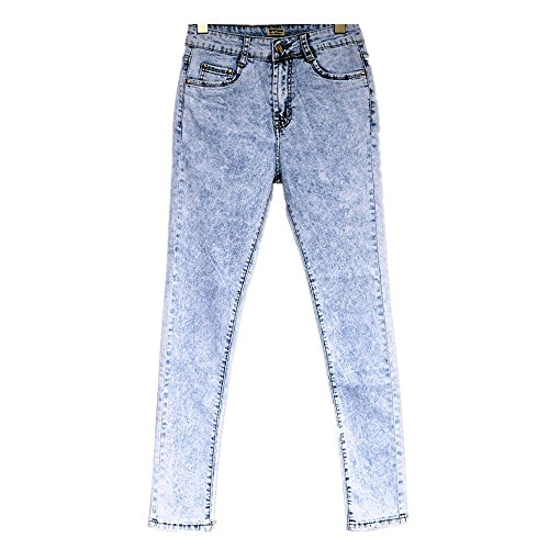Blue Haute Crayon Pieds Taille Pieds Neige Femmes XL Pantalon de Color Blue Isbxn en Denim Flocon Pantalon pour Size qxFf0fgZ