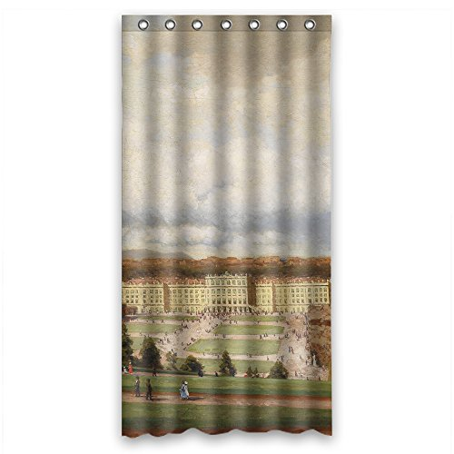 (NASAZONE Beautiful Scenery Landscape Painting Bath Curtains Polyester Best For Boys Wife Teens Valentine. With Hooks Width X Height / 36 X 72 Inches / W H 90 By 180 Cm(fabric))