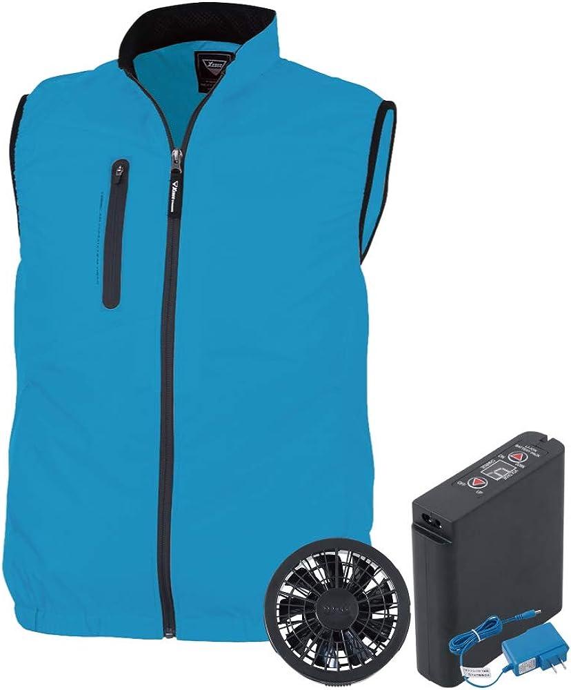 空調服 セット (フルセット) ジーベック ベスト 膨らみ軽減 スポーティ ポリエステル100% XE98010 全6色