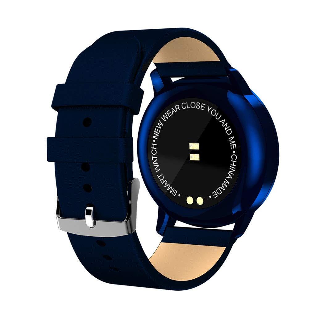 Reloj Inteligente Hombre Mujer, Modaworld Relojes Deportivos Hombre Mujer Q8 Pantalla a Color Monitor de presión Arterial/oxígeno en Sangre/Ritmo cardíaco ...