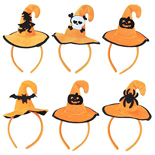 ANDES 6pcs Halloween Boppers Pumpkin Headband for Costume Party (C) -