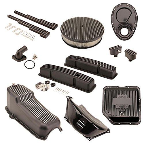SBC/TH350 Black Dress-Up Kit, Round A/C,Short V/C