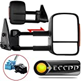 2003 chevy suburban tow mirrors - ECCPP Towing Mirrors Pair Set For 2003-06 Chevy Silverado 1500 2500 HD 3500 Suburban 1500 2500 Tahoe GMC Sierra Yukon Power Heated Signal Black Manual Telescoping Side View Mirror