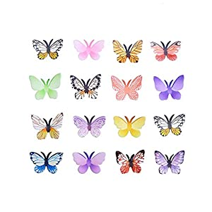 Georld Set Of 48 Piece 177 Edible Butterflies Cake Cupcake Toppers Mixed Colour by GEORLD
