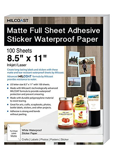 Milcoast Matte Full Sheet 8.5 x 11
