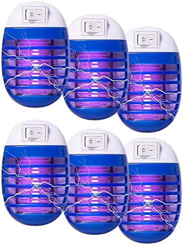6 Pcs Bug Zapper Electric Fly Pests Trap Indoor,...