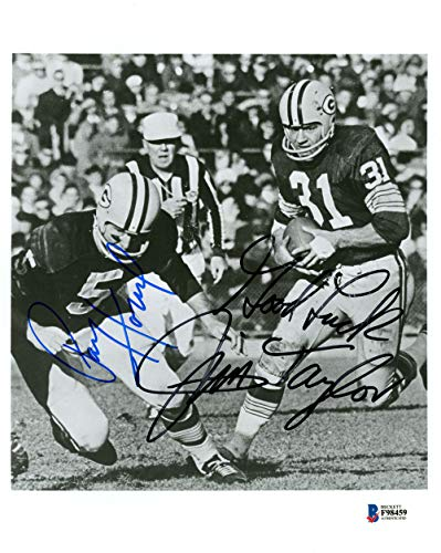 Jim Taylor & Paul Hornung Autographed 8x10 Photo Green Bay Packers