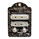 door knob metal plate - Graphic 45 4501296 Staples Shabby Chic Metal Door Plates & Knobs