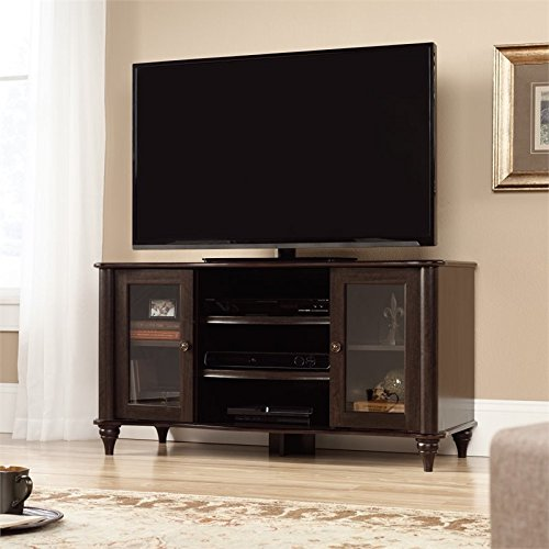 Sauder 416700 TV Stand, Jamocha Wood Finish, Holds up to a 50