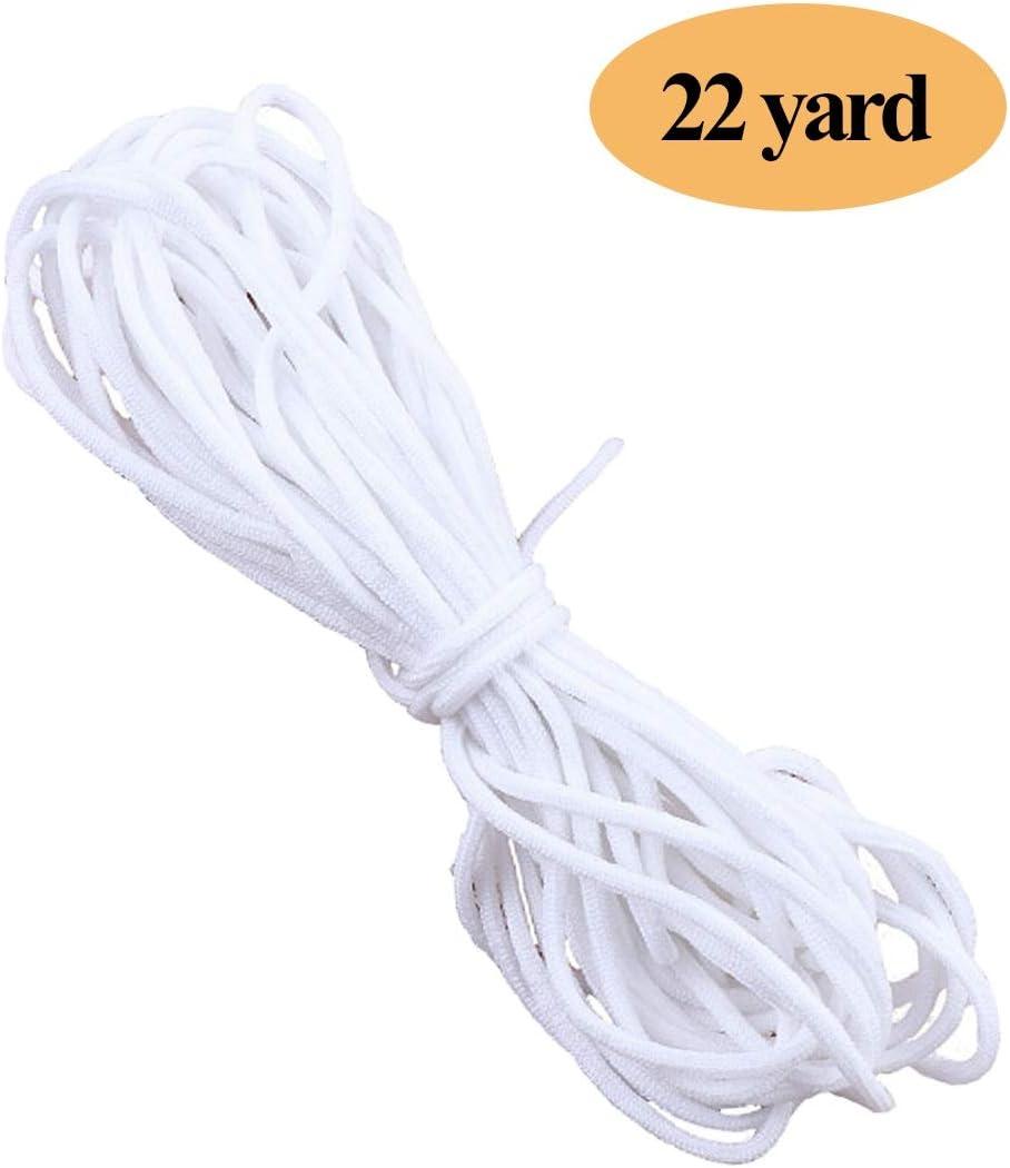NIERBO Elastici Elastico 6mm di Larghezza Corde Elastiche 90 Metri di Lunghezza 6mm*90m, Bianco