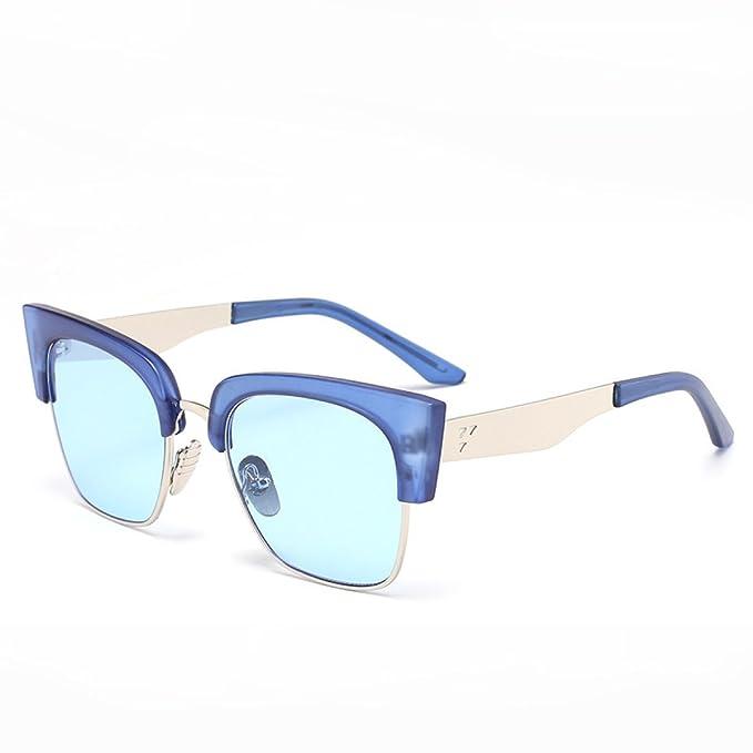 WKAIJC Rétro Film Couleur Boîte Ronde Simple élégant Sauvage Confort UV Modèles Couple Lunettes De Soleil,C