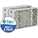 White-Rodgers FR1400-401 16x28x6 MERV 8 Comparable Air Filter - 2PK