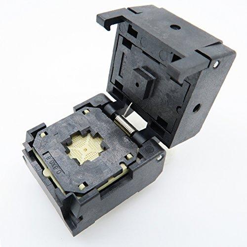 ALLSOCKET QFN48(6x6)-0.4 Burn in Socket QFN48 MLF48 WLCSP48 Package Testing Adapter, 0.4mm Pitch IC Size 6x6mm NP506-048-002-SC-G QFN IC MCU Programming Socket Burn-in(Clamshell, 0.4mm)