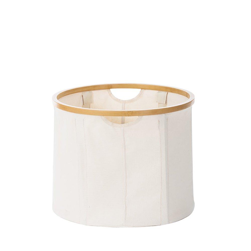 JPPSNH シンプルでスタイリッシュな大容量折りたたみ可能な環境保護材料多機能衣類の収納バスケット (Shape : Round) B07SZ1GF8Z  Round