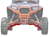 SuperATV Polaris RZR 1000 / 1000 4 / Turbo / Turbo 4 High Clearance A-Arms (2017+) - LOWER Arm - Red