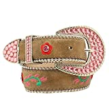 M&F Western Girl's Roses Belt (Little Kids/Big Kids) Brown Belt