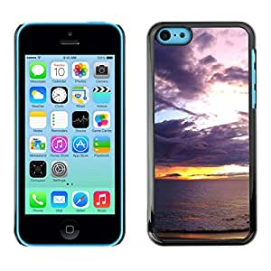 TopCaseStore / la caja del caucho duro de la cubierta de protección de la piel - Sunset Sea Ocean Romantic Nature Summer - Apple iPhone 5C