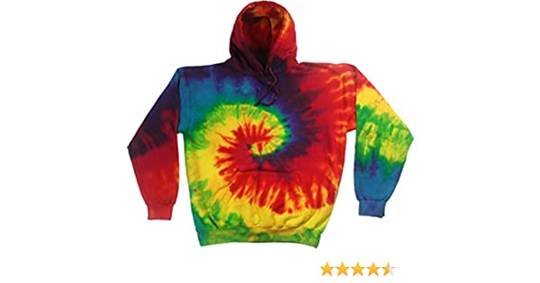7dc73adc6c4 Amazon.com  Buy Cool Shirts Kids Tie Dye Pullover Multi Reactive Rainbow  Swirl Hoodie  Clothing