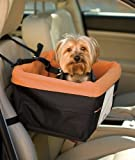 Kurgo Skybox (TM) Dog Booster Seat for Cars with Seat Belt Tether, Black/Orange