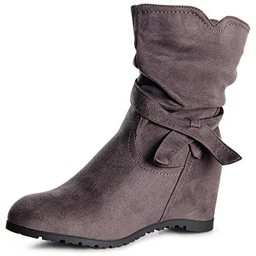 topschuhe24 - Botas para mujer, color gris, talla 37