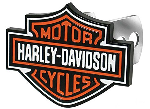 Plasticolor 002216 Harley-Davidson Full-Color Aluminum Hitch Plug (Harley Davidson Hitch Cover)