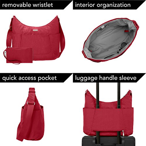 Resistant Tote Wristlet Baggallini Water Lightweight Multi Red Purse Pocketed with Travel Hobo Poppy wpwqnBxS