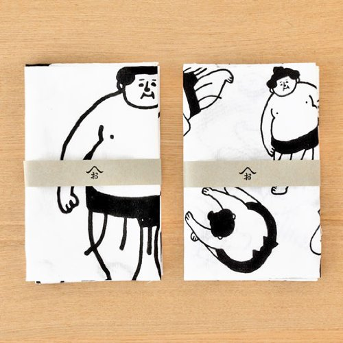 Ohagiyama The Sumo Wrestler by Saito, Japanese Tenugui Hand Towel, Japan Import (Everyday Life)
