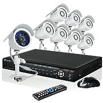 Zmodo 16CH H.264 Video DVR Security Surveillance Camera System With 8 Night Vision IR Outdoor Surveillance Camera 1TB Hard Drive