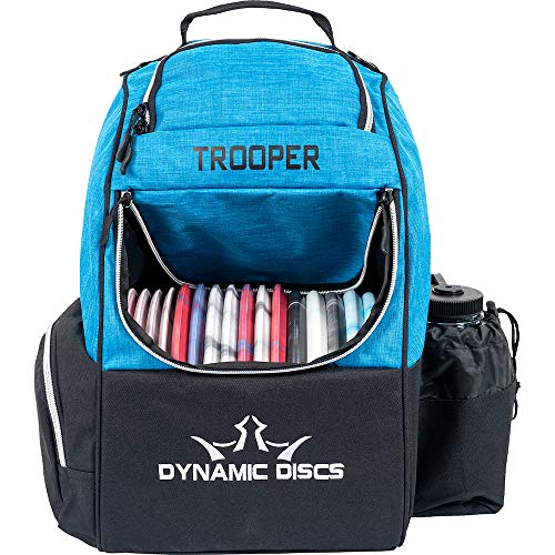 Dynamic Discs Trooper Disc Golf Backpack | Heather Blue | Frisbee Disc Golf Bag with 18+ Disc Capacity | Introductory Disc Golf Backpack | Lightweight and Durable
