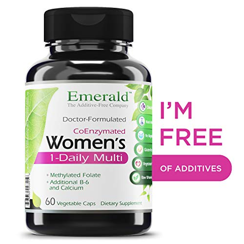 Women's 1-Daily Multi - Complete Daily Multivitamin with CoEnzymes + Vitamin B6 & Calcium - Supports Adrenal Function, Energy Boost, Hormonal Support - Emerald Laboratories - 60 Vegetable Capsules