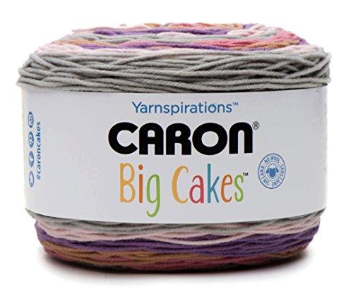 Caron Big Cakes Self Striping Yarn ~ 603 yd/551 m/10.5oz/300 g Each (Cherry Cake)