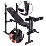Weight Bench Barbell Adjustable/Incline Flat Lifting Workout Body Press Home Gym