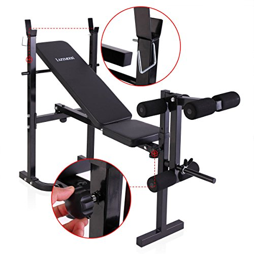 Weight Bench Barbell Adjustable/Incline Flat Lifting Workout Body Press Home Gym by Unknown