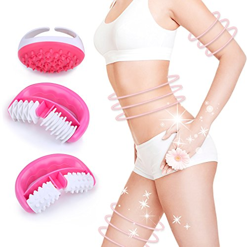 Cellulite Massager, Kapmore 3PCS Anti Cellulite Massager Set Cellulite Roller, Cellulite Massage Brush for Cellulite Treatment & Reduction Removing Toxins Increase Circulation Tighten Tone Skin