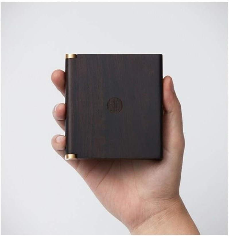CPBH ソリッドウッドのタバコケース、ポータブル光20パープルサンダルウッド、アンチ圧力防湿タバコストレージボックス、メンズビジネスギフトは、ポータブルシガレットケース長老リーダーシップクリエイティブギフトを送ります (Color : Brown, Size : 11.2*6.8*1.8cm)