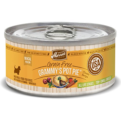 Merrick Classic Grain Free Grammy's Pot Pie Small Breed Wet Dog Food, 3.2 oz, Case of 24 Cans