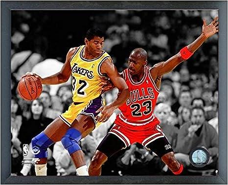 821f4c90c7831 Amazon.com : Magic Johnson & Michael Jordan NBA Action Photo (Size ...