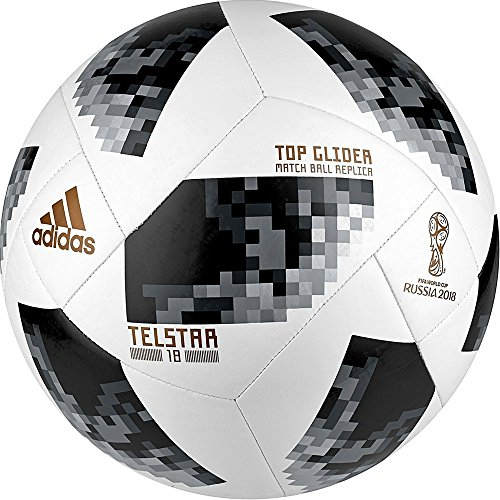 adidas FIFA World Cup Glider Ball White/Black/Silver Metallic, - Training Soccer World