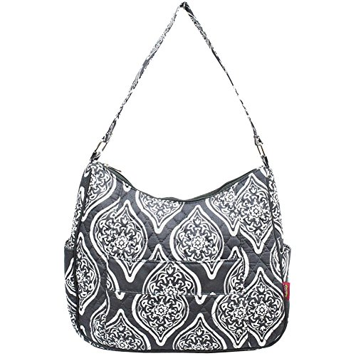 Hobo Bag Quilted in Cotton Shoulder Grey Bloom Ngil Marquise x1v7qEY