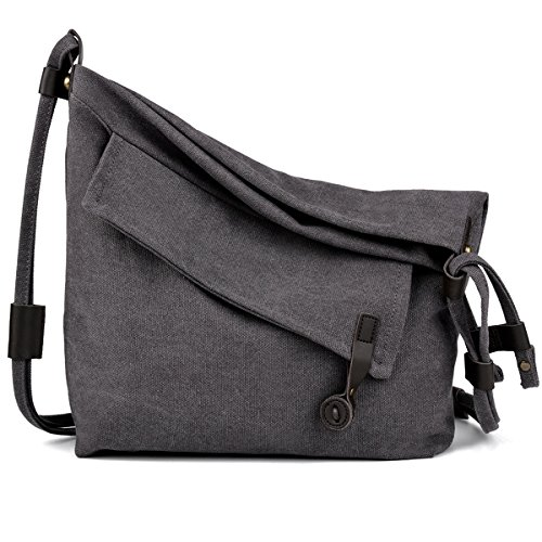 COOFIT Canvas Bag for Women Crossbody Bag Messenger Bag Shoulder Bag Canvas Purse Bag -