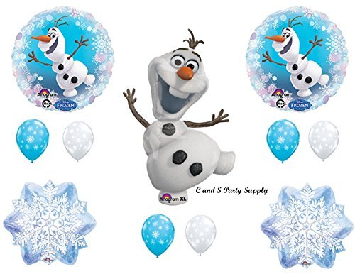 NEW!! OLAF SNOWFLAKES Balloons Birthday party Decoration Supplies Frozen Elsa -
