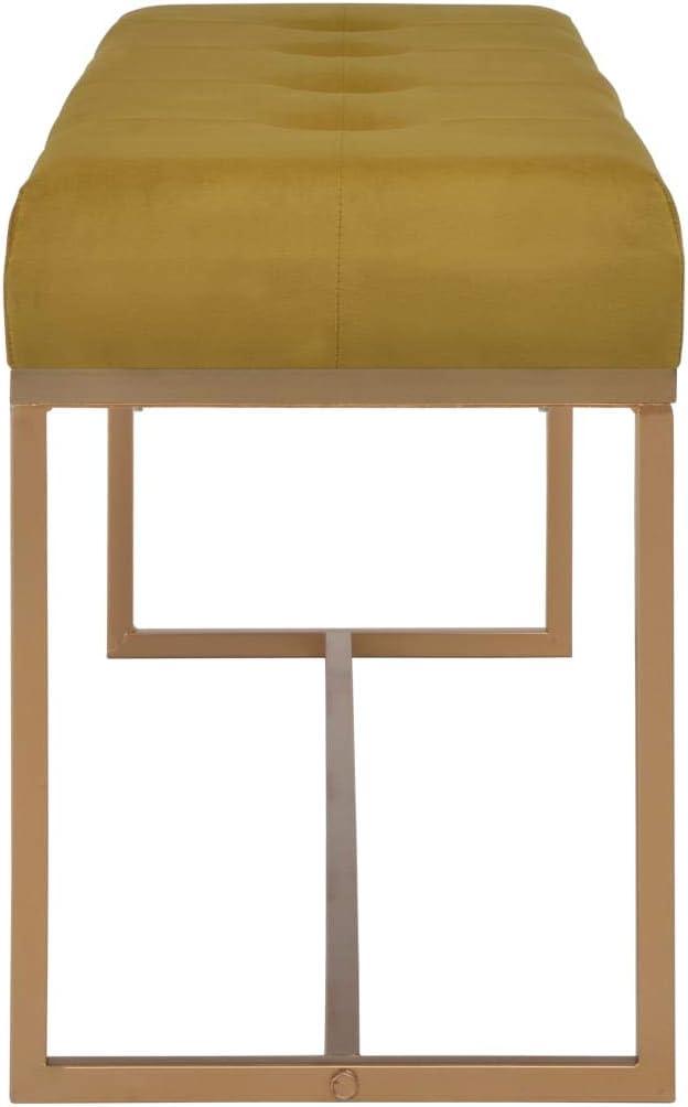 vidaXL Panca Robusta Elegante Arredamento Interni Casa Gambe in Ferro Verniciato Panchina Ingresso 80 cm in Velluto Beige e Oro