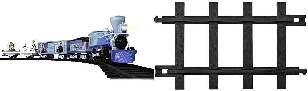 Lionel Disney's Frozen Battery-Powered Train Set with Remote + 12-Piece Straight Track Expansion Pack