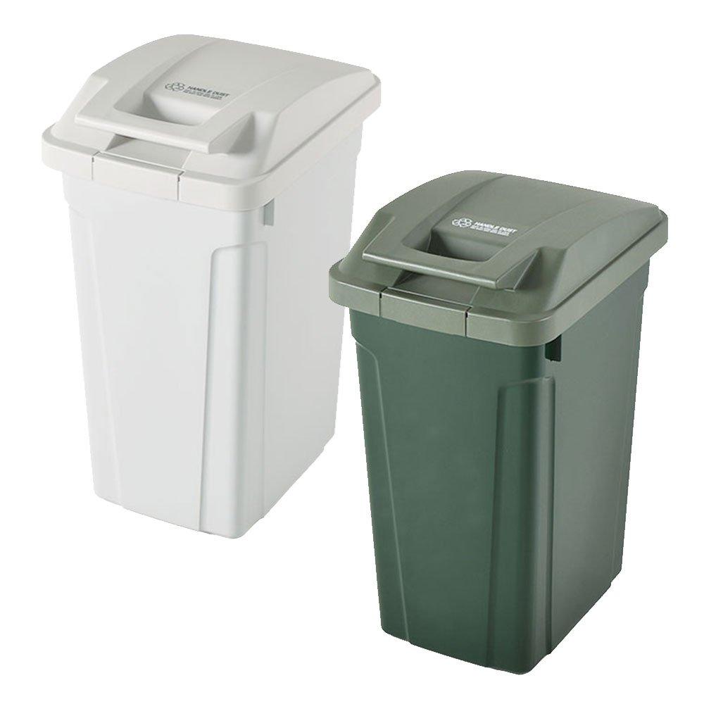 ASVEL SP ハンドル付ダストボックス 35L 2個セット ゴミ箱 ごみ箱 ダストボックス おしゃれ ふた付き アスベル (ホワイト×グリーン) B0747PLPJS ホワイト×グリーン ホワイト×グリーン