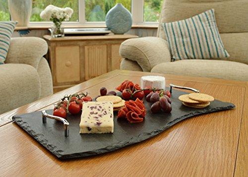 Wave Slate Tray 50x30cm - Handled Cake Platter