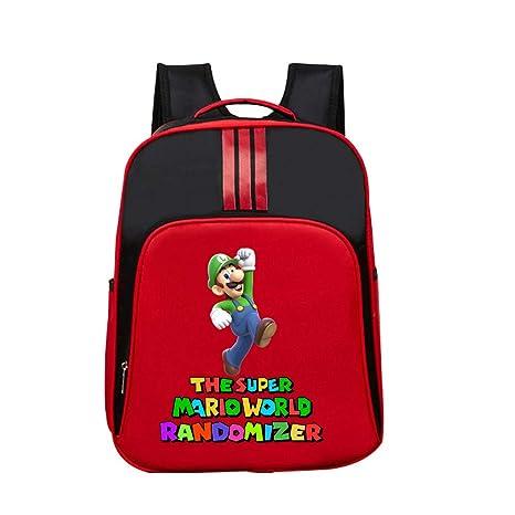 Kerlana Unisex Super Mario 3D Juego de impresión Mochila Casual Impresión Mochilas School Bag para Niño