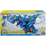 Kids Fisher-Price Imaginext+Ultra T-Rex in Blue, 3 Power Pads To Bring Ice Dino Roaring To Life